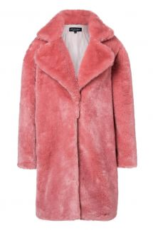 Ana Alcazar Fake Fur Coat Oriani Rose