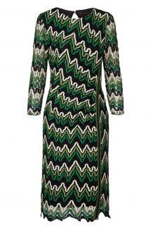 Ana Alcazar Lurex-Stripe Dress Photysa Green