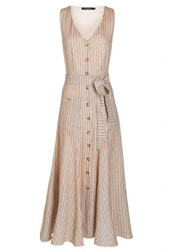 Ana Alcazar Midi Dress Zeimy Light-Beige