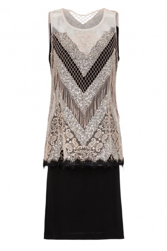 Ana Alcazar Black Label Sequin Dress Giorga