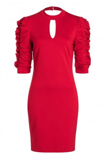 Ana Alcazar Sleeve Dress Resyas Red