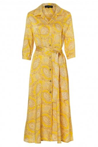 Ana Alcazar Midi Dress Tefrola Yellow