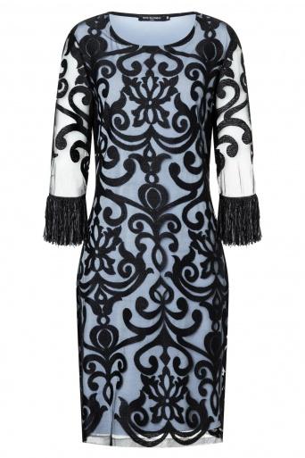 Ana Alcazar Fringe Dress Warana Blue