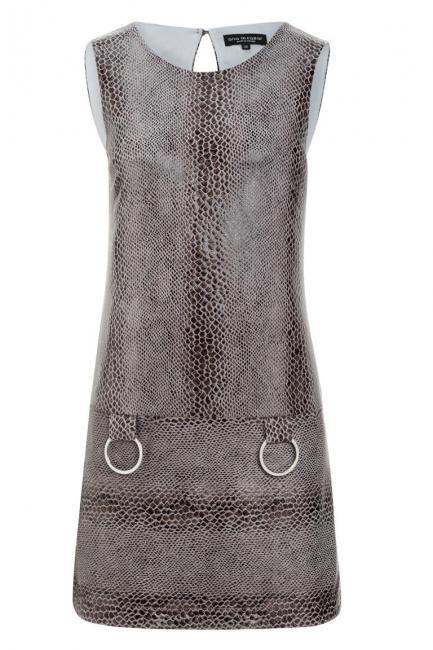 Ana Alcazar A-Linien Kleid Korana Grey