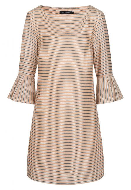 Ana Alcazar Volant Dress Zemos Light-Beige