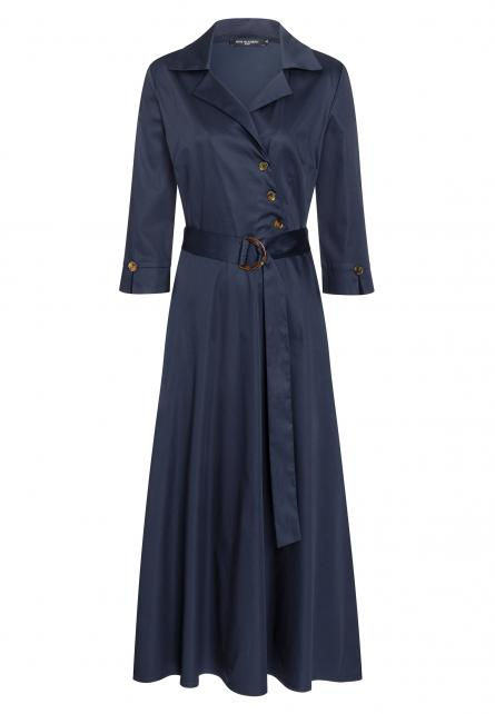 Ana Alcazar Wrap Dress Zepay Blue