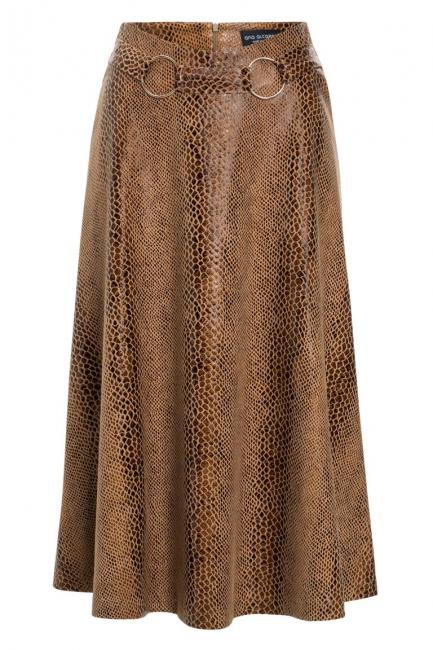 Ana Alcazar Pleated Skirt Koranea Brown