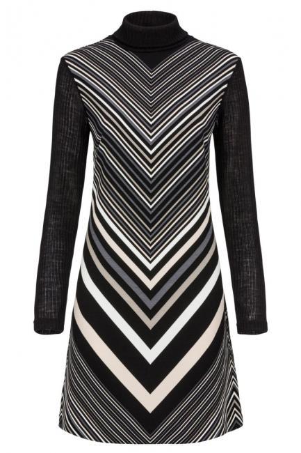 Ana Alcazar Longsleeve Dress Diagony