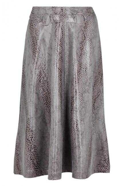 Ana Alcazar Pleated Skirt Koranea Grey