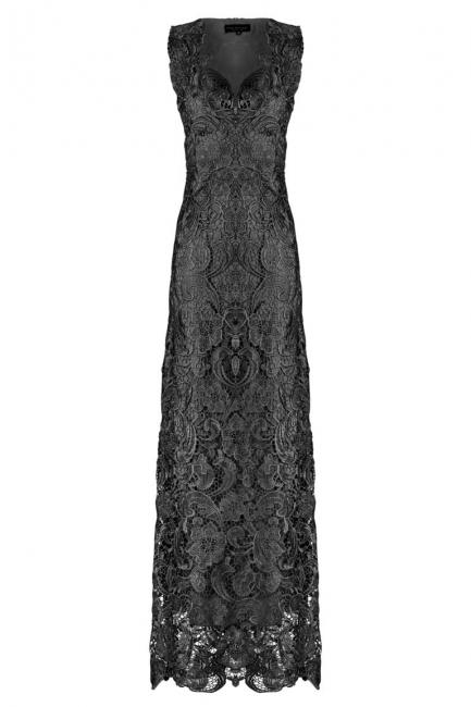 ana alcazar Black Label Maxi Kant Jurk No. 62