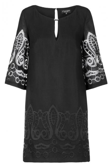 Ana Alcazar Tunic Dress Black Feya