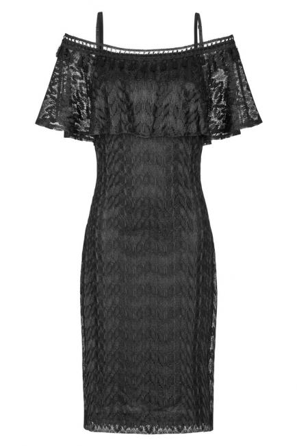 Ana Alcazar Carmen Dress Black Franciska