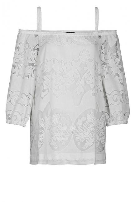 Ana Alcazar Offshoulder Top White Fernandy