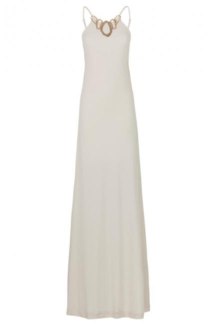 ana alcazar Black Label Maxi Dress Nude No. 52