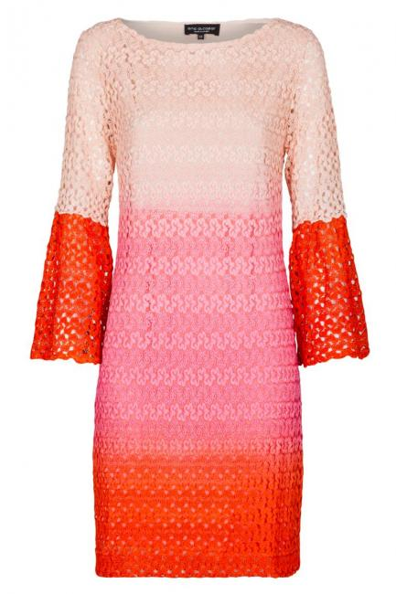 Ana Alcazar Ajour Tunic Dress Pink Famy