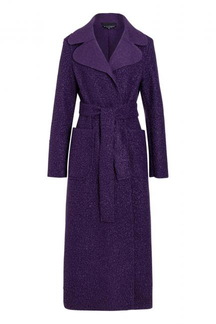 Ana Alcazar Long Coat Vabane Purple