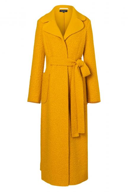 Ana Alcazar Long Coat Vabani Yellow