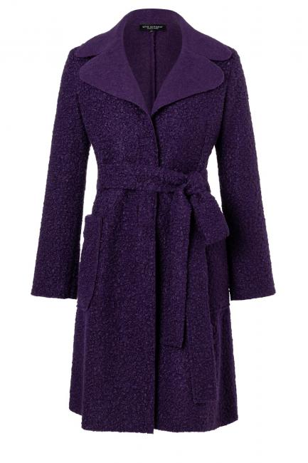 Ana Alcazar Midi Coat Vababo Violet