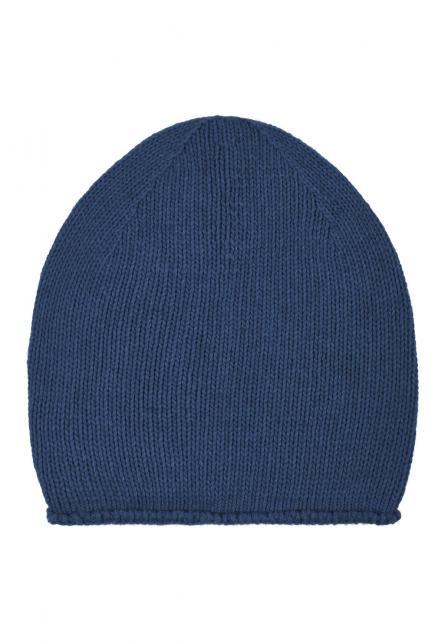 Mütze Beanie-Indigo mit Kaschmiranteil