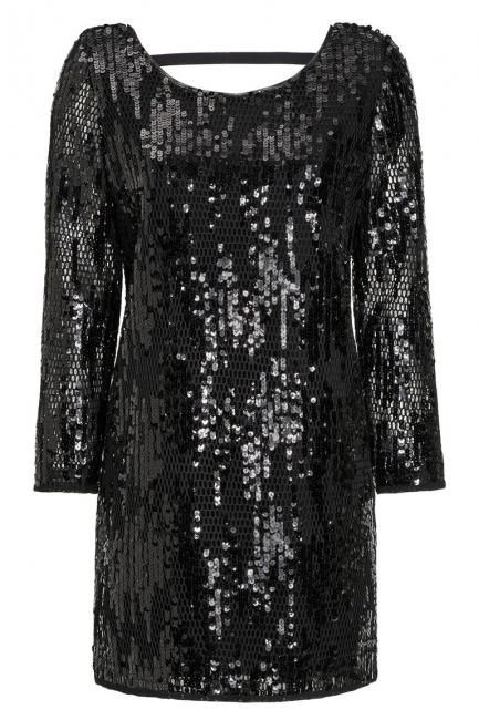 Ana Alcazar Black Label Sequin Dress Juveny