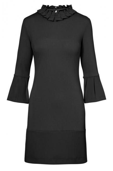 Ana Alcazar Volant Dress Opala Black