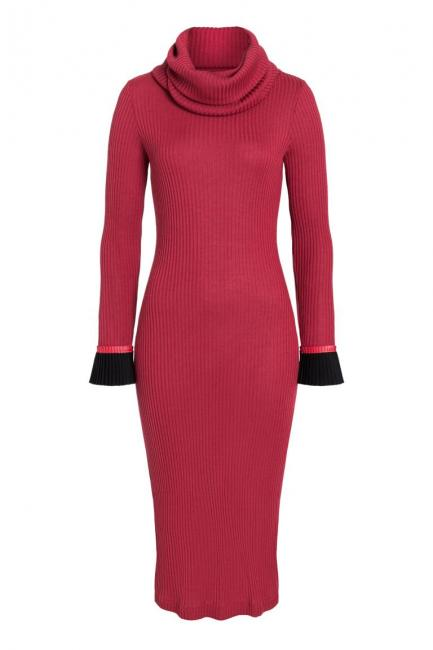 Ana Alcazar Midi Dress Ponera Red