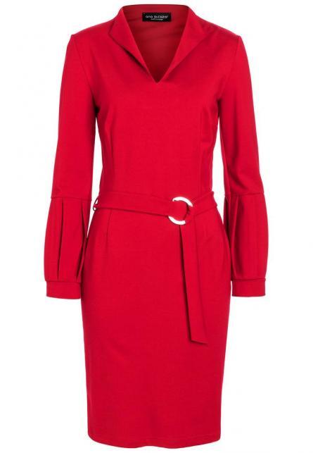 Ana Alcazar Gürtel Kleid Resyly Rot