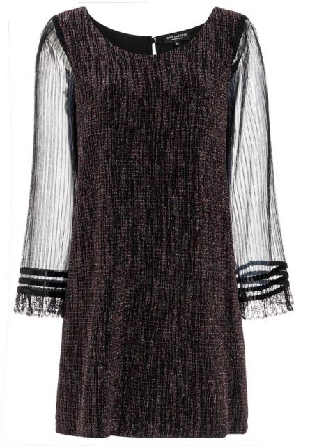 Ana Alcazar Glitter Pleats Dress Rafys