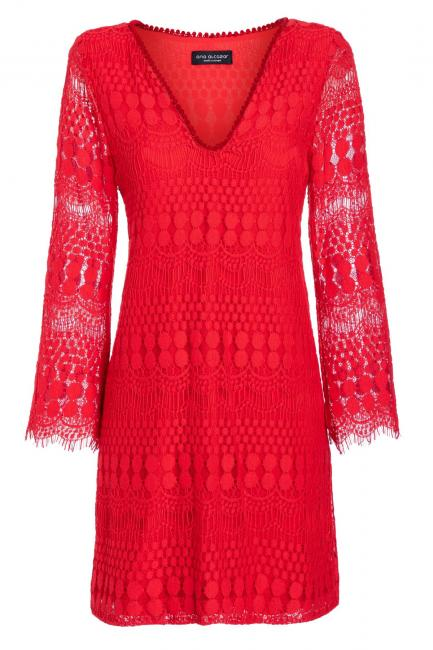 Ana Alcazar Tunic Dress Sanicos Red