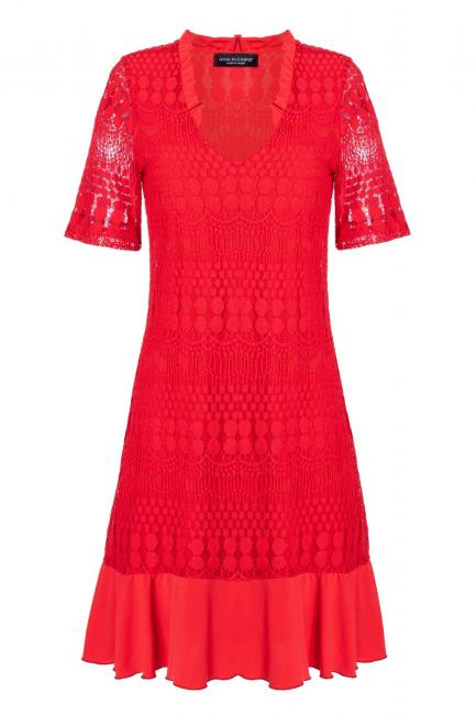 Ana Alcazar Shortsleeve Dress Santyle Red