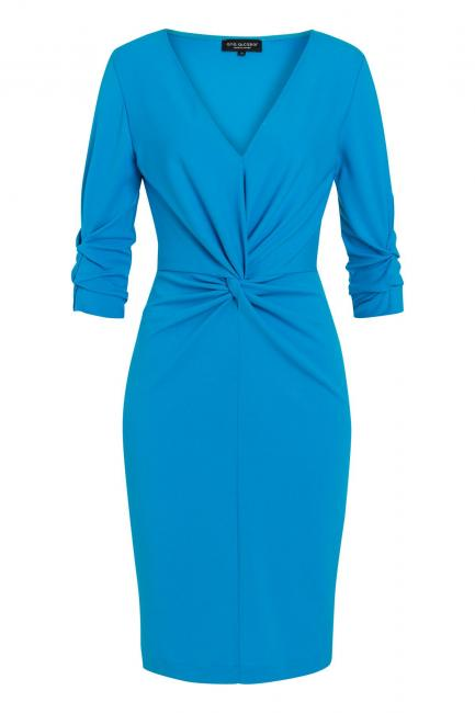 Ana Alcazar Knot Dress Savea Blue