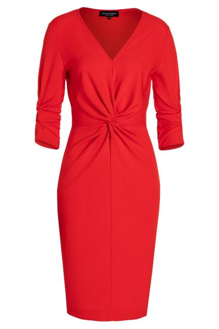 Ana Alcazar Knot Dress Savori Red