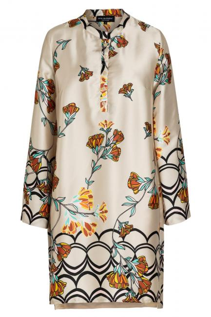 Ana Alcazar Blouse Dress Sefrisa Beige