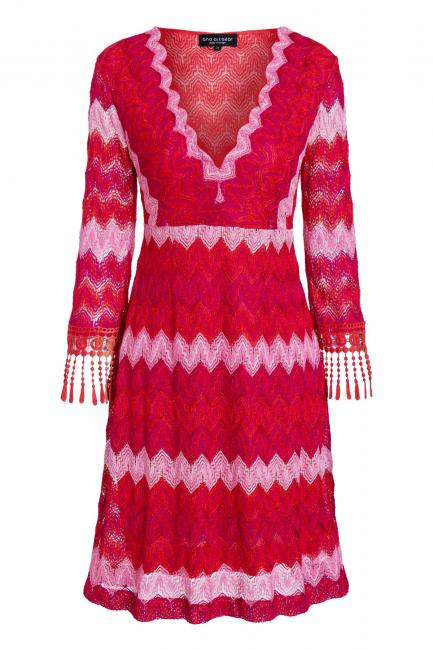 Ana Alcazar Fringe Sleeve Dress Soshyma