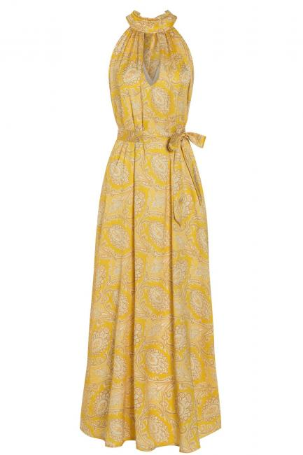 Ana Alcazra Maxi Dress Tefamy Yellow