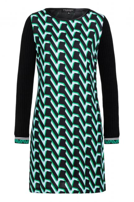 Ana Alcazar A-Shaped Dress Vabume Green
