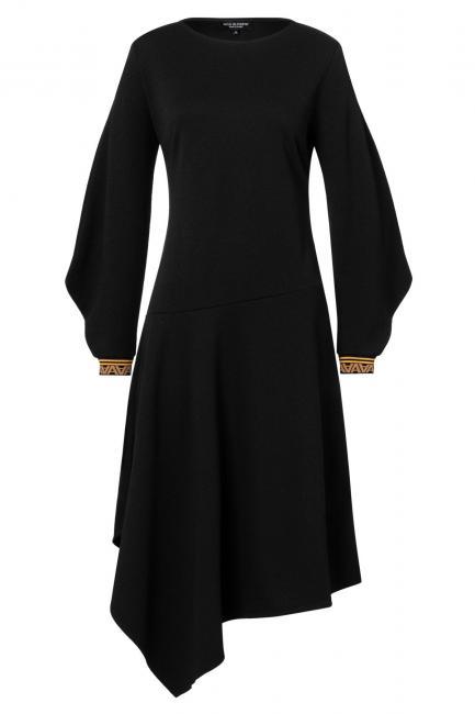 Ana Alcazar Midi Kleid Vadula Schwarz