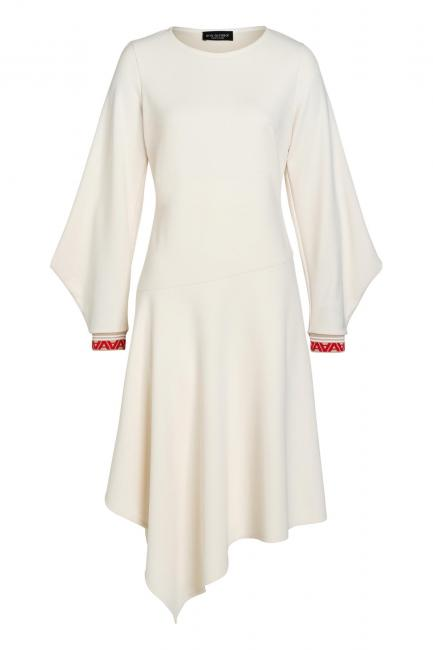 Ana Alcazar Midi Dress Vaduly Offwhite