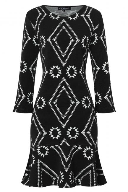 Ana Alcazar Volant Dress Vafomi Black