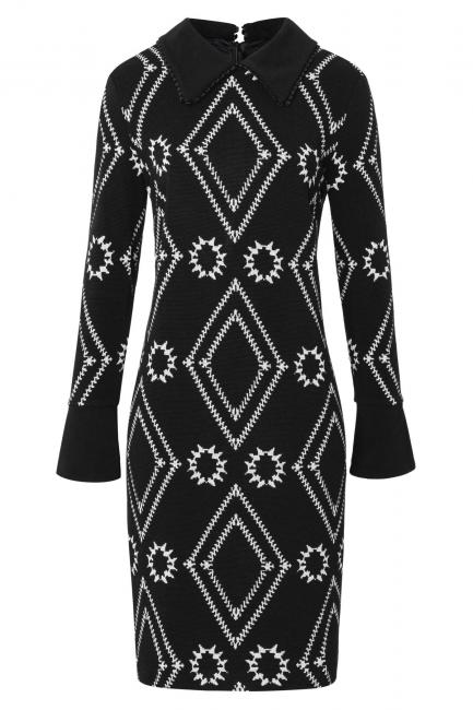 Ana Alcazar Collar Dress Vafory Black