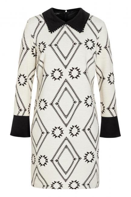Ana Alcazar Kragen Kleid Vafonte Weiß