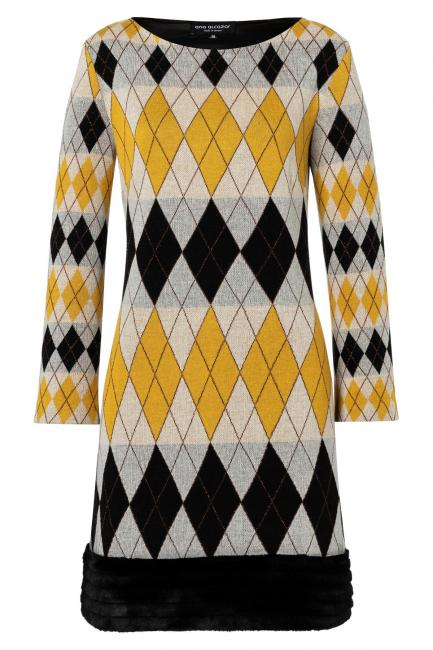 Ana Alcazar Fake Fur Dress Vekine Yellow
