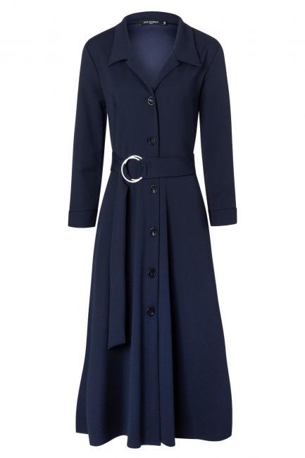 Ana Alcazar Blusen Kleid Walisea Blau
