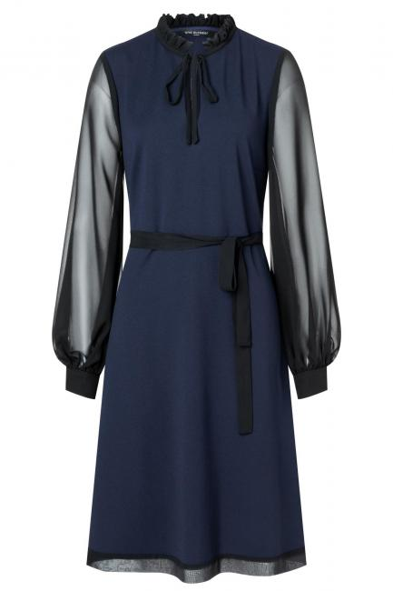 Ana Alcazar Chiffon Dress Waery Blue