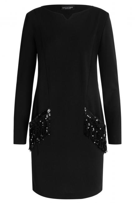 Ana Alcazar Pocket Dress Wafra Black