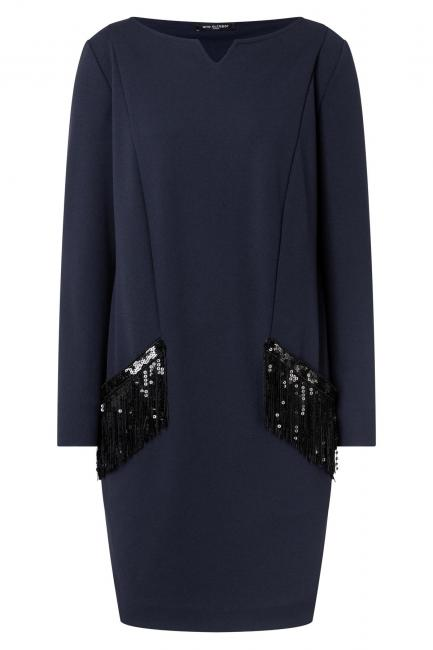 Ana Alcazar Pocket Dress Wafry Blue