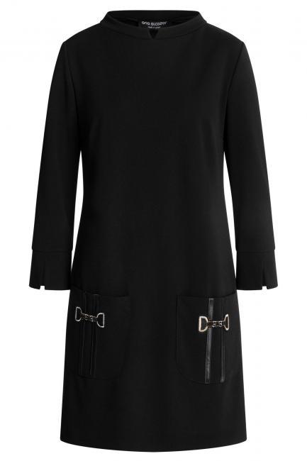 Ana Alcazar Taschen Kleid Wagosa Schwarz