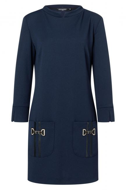 Ana Alcazar Pocket Dress Wagosy Blue