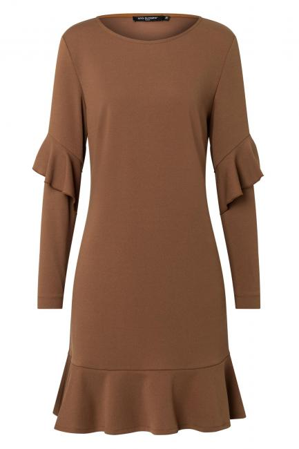 Ana Alcazar Volant Dress Waisea Brown