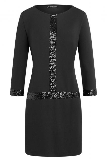 Ana Alcazar Sequin Dress Wajana Black